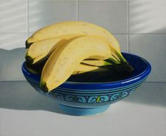 bananas in a Moroccan bowl by Ronald Bowen