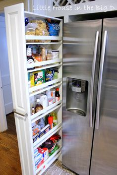 Slide out pantry #kitchen Little House in the Big D