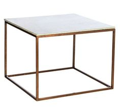 Marble & copper coffee table - tables - furniture - Urban Home Dining Table Marble, Marble Top Side Table, Copper Table, Furniture, Chest Coffee Table, Wooden Coffee Table, Coffee Table, Coffee Table Pictures, Copper Coffee Table