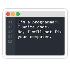 'I Am A Programmer' Sticker by Code Wear