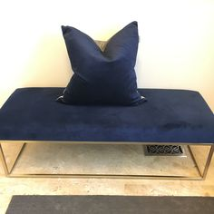 Pictured here, pillow by Julanna Vine, designer and founder of J Vine Studio, featuring pillow from Two-Toned Velvet collection in Navy - available at ELTE mkt in Toronto or online. Julanna sells wholesale to retailers or direct sales. Textile Prints, Textile Design, Velvet Pillows, Throw Pillows, Designer Pillow, Direct Sales, Vines, Toronto, Navy
