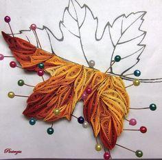 Autumn leaf Autumn leaf The post Autumn leaf app - Quilling Ideas Neli Quilling, Quilling Images, Paper Quilling Flowers, Paper Quilling Tutorial, Quilling Work, Paper Quilling Patterns, Quilled Paper Art, Quilling Jewelry, Quilling Paper Craft