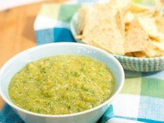 "Roasted Tomatillo Salsa - Jeff Mauro, ""The Kitchen"" on the Food Network."