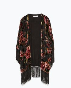 FRINGED DEVORÉ KIMONO-Collection-Starting from 50% off-WOMAN-SALE | ZARA United States