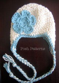 Crochet Pattern Easy Earflap Hat Baby to Adult | best stuff