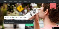 Media Temple homepage web design  responsive web inspiration