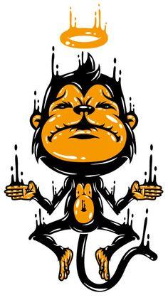 The Monkey T-Shirt by Johnny Terror, via Behance
