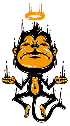 The Monkey T-Shirt by Johnny Terror, via Behance
