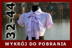 Koszula z kokardami, wykrój do pobrania on line.