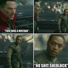 ITS TWICE AS FUNNY CUZ HE USED TO PLAY SHERLOCK<<<<< thays the reason why they made this joke lol