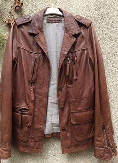 À vendre sur #vintedfrance ! http://www.vinted.fr/mode-femmes/vestes-en-cuir/25567528-veste-cuir-marron-kookai
