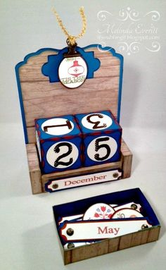 If You Bling It--perpetual calendar with collage blocks and ctmh Dakota paper
