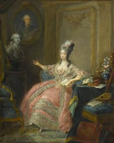 Marie Joséphine, Comtesse de Provence, sister-in-law to Marie Antoinette and Louis XVI.  Marie-Joséphine was a slovenly woman, with offensive body odor.  Some at court whispered that her lax hygiene caused her corpulent husband to become impotent.  Regardless, Comte de Provence was often heard bragging about their wild sexcapades. ~LMB, Titillating Tidbits about Marie Antoinette