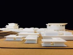 printed architecture Model of Panmunjom Village within DMZ between North & South Korea. Joint Security Area, Longitudinal Section, Freedom House, Wooden Columns, Restaurant Marketing, Architecture Models, North South, Urban Planning, Portfolio