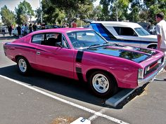Valiant VH Charger with a Valiant panelvan in the background! Yeah awesome