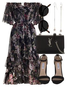A fashion look from September 2017 by laurenmboot featuring Zimmermann, Steve Madden and Yves Saint Laurent Fashion Mode, Modest Fashion, Look Fashion, Korean Fashion, Fashion Dresses, Womens Fashion, Fashion Tips, French Fashion, Hijab Fashion