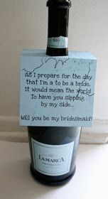 Style Me Swanky: Wedding Wednesday: How I asked my bridesmaids!