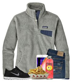 A fashion look from April 2018 featuring Patagonia, ripped skinny jeans and  sports shoes. dd625043e9