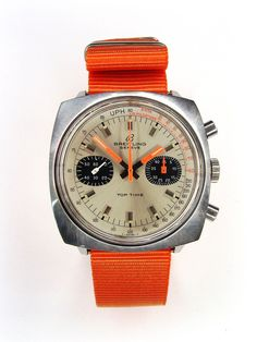 Could do without the orange strap, but the head is way cool. Big Watches, G Shock Watches, Luxury Watches, Cool Watches, Wrist Watches, Watches For Men, Gents Fashion, Breitling Watches, Beautiful Watches