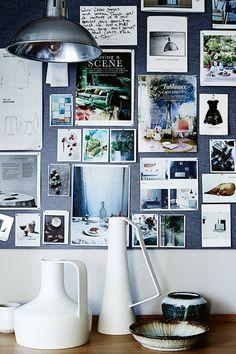 Mood board in the home of stylist Claire Delmar | Block Print Social