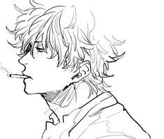 Anime Guys, Manga Anime, Sakamoto Tatsuma, Drawing Sketches, Drawings, Gekkan Shoujo Nozaki Kun, Skullgirls, Durarara, Fan Art