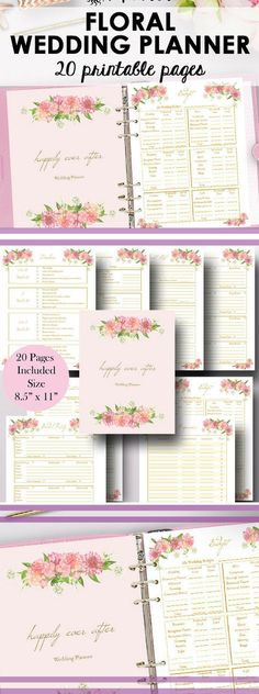 Wedding Planner Printable, Wedding Planning Printables, Organizing Planner Printables, Budget Checklist, I do, Letter Size, Instant Download #ad #wedding #planner #schedule