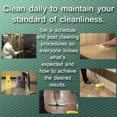 Maintain your cleaning standards