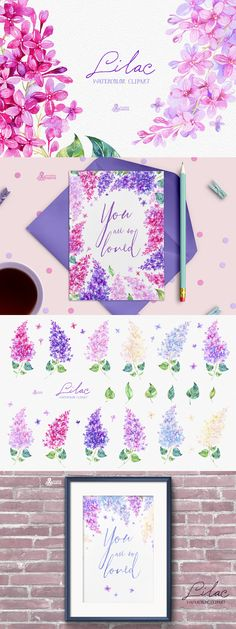 Lilac: Watercolor Collection  -  https://www.designcuts.com/product/lilac-watercolor-collection/