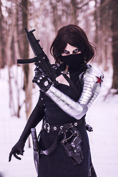 Winter Soldier/Bucky cosplay.Winter Soldier/Bucky by Evgenia a.k.a. mercury. (A-Twins a.k.a. близняхи)Photo by aw...