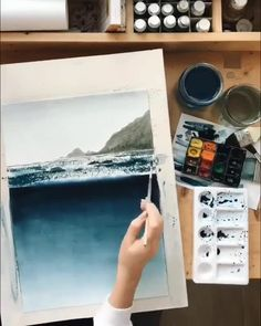 there are no half measures when it comes to watercolor watercolor demands constant devotion pierre touga by diana lakshman release your cre # Art Watercolor, Watercolor Painting Techniques, Painting Videos, Gouache Painting, Painting & Drawing, Diy Painting, Drawing Tips, Drawing Ideas, Oeuvre D'art