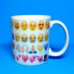 5 choices POOP smiling EMOJIS MUG 11 oz or HeaRT EyEs Custom Personalized emoji emogee Monogram coffee hot chocolate cup hand made printed