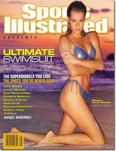 November 4, 2002 - Rebecca Romijn-Stamos graces The Ultimate Swimsuit Issue, 1964 - 2002.