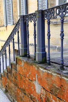 fun wrought iron staircase. wrought iron railing of palace in Bayreuth  by anelieya French Quarter Fun Part 2 Wrought railings Iron and