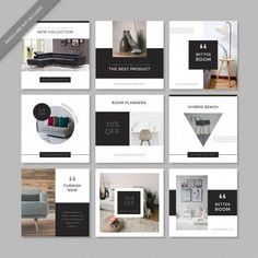 More than 3 millions free vectors, PSD, photos and free icons. Exclusive freebies and all graphic resources that you need for your projects Instagram Design, Layout Do Instagram, Insta Layout, Instagram Grid, Instagram Post Template, Social Media Branding, Social Media Banner, Social Media Template, Social Media Design