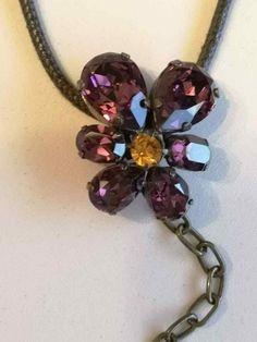 * * * PALMERS Kordel mit Anhänger aus Swarovski-Kristall * * * Swarovski, Ebay, Fashion Jewelry, Crystals, Watches