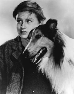 """Lassie with Roddy McDowall from """"Lassie Come Home"""""""