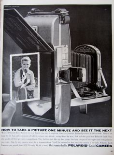 1957 Polaroid Land Camera Vintage Magazine Advertisement by RelicEclectic, $8.00