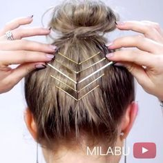 """RepostBy @milabu09: """"I love adding bobby pins to add an edgy flare to any hairstyle. Plus, it adds hold to my baby/short hairs that can't go up. ・ ▹ MetaGrip Bobby pins from Sally's Beauty Supply Sore ・ ▹ Shirt from @Urbanoutfitters ・ ▹ Music: @ehrlingofficial """"Tease"""