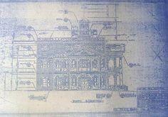 Disneyland Haunted Mansion Elevation Blueprint by BlueprintPlace -- Etsy