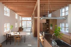House in Hikone is a single family house for a young couple and their children in Hikone, designed by Tato Architects.