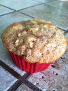 Healthy Apple Cinnamon Muffins. #healthy #muffins. Use stevia instead of sugar and coconut flour instead of regular flour and this is really healthy!!