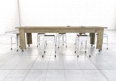 Reclaimed wooden dining tables by naturalcityfurniture.co.uk