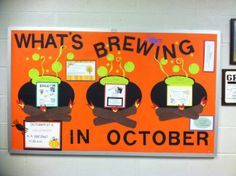 What's Brewing in October PTO information bulletin board                                                                                                                                                                                 More