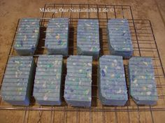 How to make big shower size bars of soap from left over slivers or those hotel/motel baby soaps you get for free!