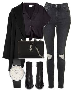 """""""Untitled #7204"""" by laurenmboot ❤️ liked on Polyvore featuring Topshop, Agnona and Yves Saint Laurent"""