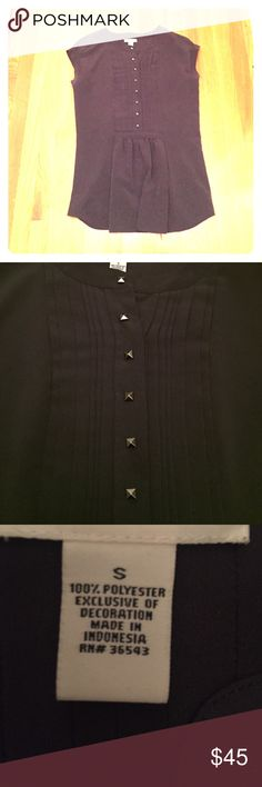 """😍 Rocker chic Calvin Klein shirt What a statement piece! Should totally pear this with black pants/jeans, and a great pair of boots. The beading in the front gives it an edge. 😍 worn once!  Total length is 28"""" Calvin Klein Tops Tunics"""