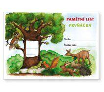 Pamětní list prvňáčka Green Beans, Gardens, Paper Board