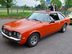 1979 Toyota Celica. My first car I bought was like this one but a pretty light blue with louvres on the back window. Those were cool in the 80's I guess.