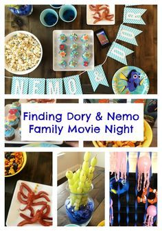 How to Host a Finding Dory & Finding Nemo Movie Night and Party Ideas