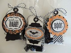 12 - HALLOWEEN Treat Candy BAGS & TAGS KIT - Stampin Up - Favor Bags, Party Bags | eBay